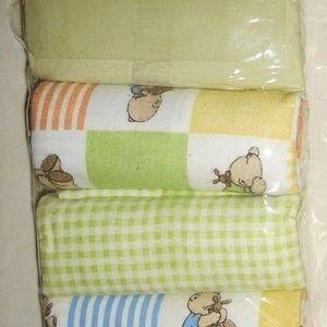 4 Piece Set Receiving Flannel Soft Blankets